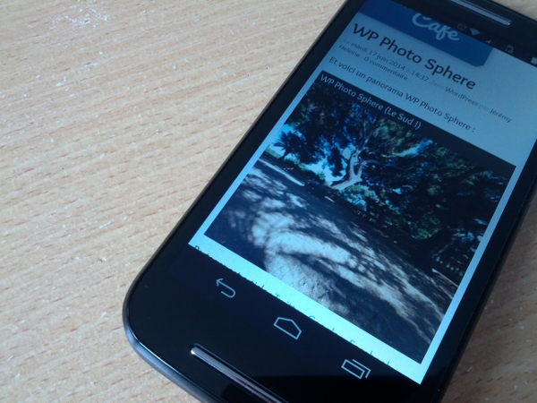 WP Photo Sphere fonctionne sur mobiles